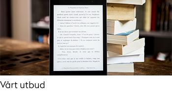Länk till sidan Utbud av e-böcker.